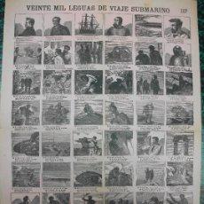 Colecionismo de cartazes: ALELUYA AUCA - VEINTE MIL LEGUAS DE VIAJE SUBMARINO BALLENA - JULIO VERNE - Nº 117 BOSCH. Lote 242164980