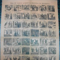 Colecionismo de cartazes: ALELUYA AUCA - VIDA DE SANTA GENOVEVA PRINCESA DE BRAVANTE- Nº -- BOSCH. Lote 242166755