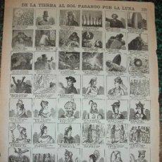 Colecionismo de cartazes: ALELUYA AUCA - DE LA TIERRA AL SOL PASANDO POR LA LUNA VIAJE - Nº 116 BOSCH. Lote 242168130