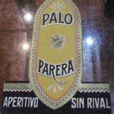 Coleccionismo de carteles: CARTEL TROQUELADO EN CARTON PUBLICIDAD APERITIVO PALO PARERA 23/17 CM DISPLAY. Lote 242297790