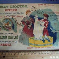 Collectionnisme d'affiches: (PA-210210)PUBLICIDAD FABRICA DE LEJIA E.SALOMO BATLLO - SABADELL. Lote 242343970
