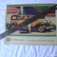 Coleccionismo de carteles: CARTEL. COCHE ANTIGUO. AÑO 1935. BUICK .ORIGINAL .. Lote 68853089