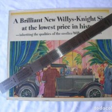Coleccionismo de carteles: CARTEL. COCHE ANTIGUO. AÑO 1935. WILLYS-KNIGHT SIX .ORIGINAL .. Lote 68853513