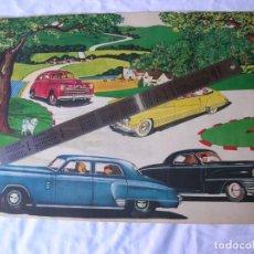 Coleccionismo de carteles: CARTEL. COCHE ANTIGUO. AÑO 1940 .ORIGINAL .27 X 41 CM. Lote 68853833