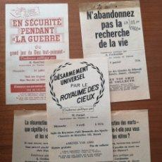Colecionismo de cartazes: 5 FOLLETOS DE LOS TESTIGOS DE JEHOVÁ 1945. Lote 243003265