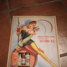 Collectionnisme d'affiches: CARTEL FABRICA LICORES ANIS COÑAC VALENCIA NAVARRO ZEA. Lote 243156440