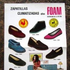 Coleccionismo de carteles: ANTIGUO CARTEL POSTER ZAPATILLAS CLIMATIZADAS CAUCHO AGLOMERADO GALLO ELCHE AÑO 1968 FACASA. Lote 34205563