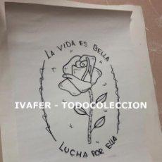 Coleccionismo de carteles: CARTEL FEMINISTA DE EXPOSICION DIA INTERNACIONAL DE LA NO VIOLENCIA CONTRA LA MUJER ORIGINAL, UNICO.. Lote 243930020