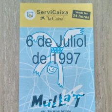 Coleccionismo de carteles: LOTE 2 CARTELES «MULLA'T PER L'ESCLEROSI MÚLTIPLE». Lote 244431420