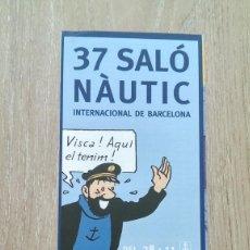 Coleccionismo de carteles: LOTE 2 CARTELES SALÓ NAÙTIC DE BARCELONA. Lote 244432545