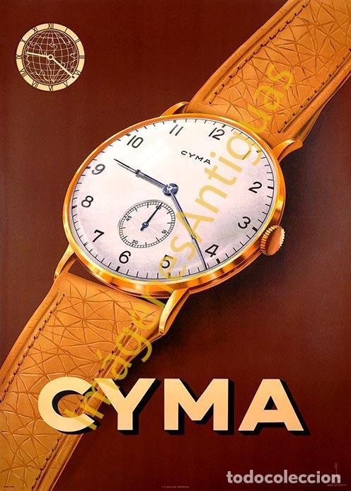 CYMA - CARTELES - IMAGENES - PUBLICIDAD - RELOJERIA - RELOJES (Coleccionismo - Carteles Pequeño Formato)