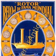 Coleccionismo de carteles: ROTOR RELOJ DE FAMA MUNDIAL - CARTELES - IMAGENES - PUBLICIDAD - RELOJERIA - RELOJES. Lote 244877315