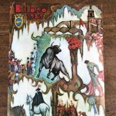 Coleccionismo de carteles: CARTEL PLAZA DE TOROS VISTA ALEGRE. BILBAO. AGOSTO 1984. Lote 245579610
