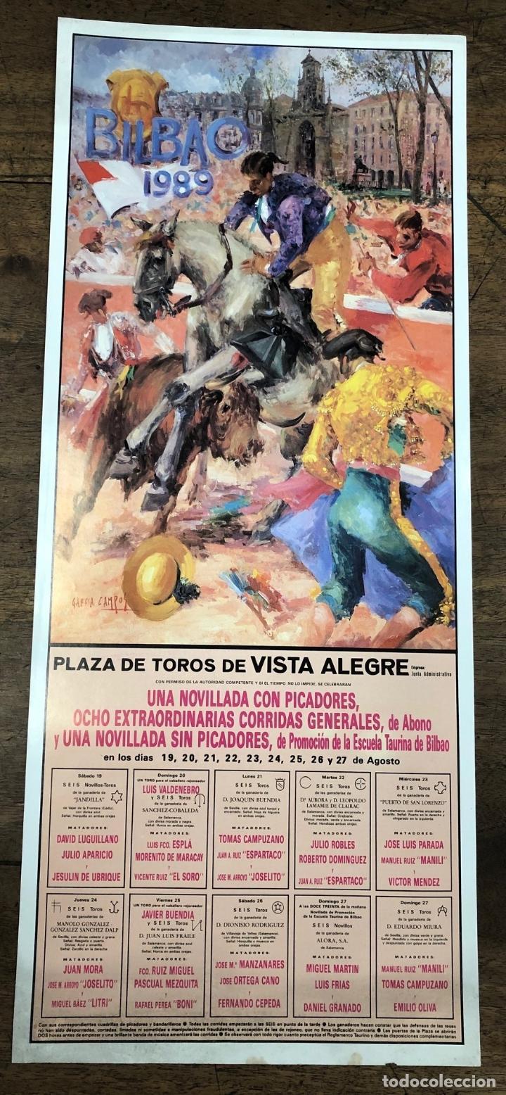 CARTEL PLAZA DE TOROS VISTA ALEGRE. BILBAO. AGOSTO 1989 (Coleccionismo - Carteles Pequeño Formato)