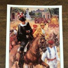 Coleccionismo de carteles: CARTEL PLAZA DE TOROS VISTA ALEGRE. BILBAO. AGOSTO 1990. Lote 245581880