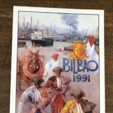 Coleccionismo de carteles: CARTEL PLAZA DE TOROS VISTA ALEGRE. BILBAO. AGOSTO 1991. Lote 245582550