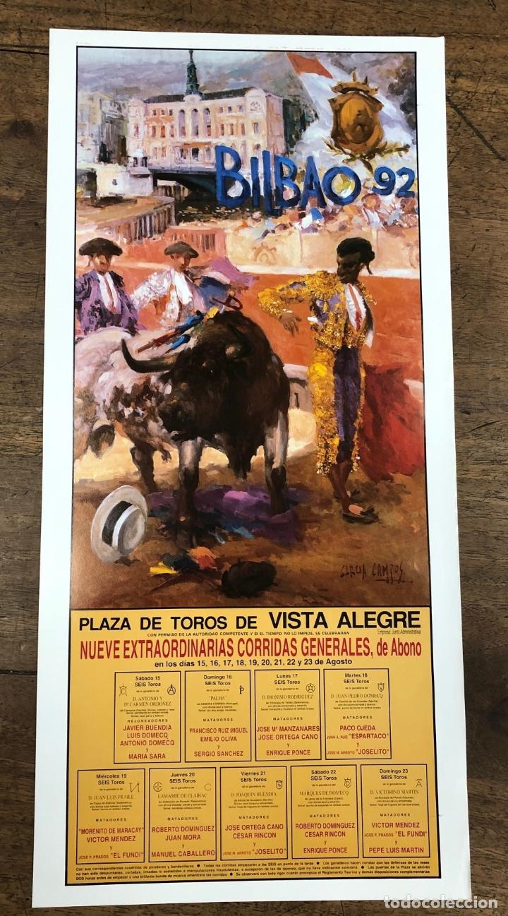 CARTEL PLAZA DE TOROS VISTA ALEGRE. BILBAO. AGOSTO 1992 (Coleccionismo - Carteles Pequeño Formato)