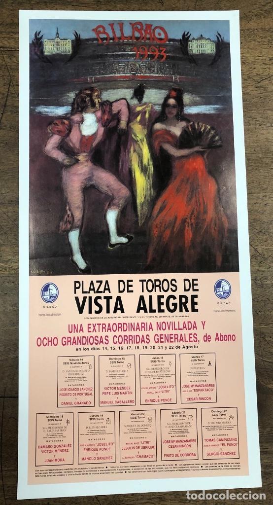 CARTEL PLAZA DE TOROS VISTA ALEGRE. BILBAO. AGOSTO 1993 (Coleccionismo - Carteles Pequeño Formato)