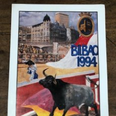 Coleccionismo de carteles: CARTEL PLAZA DE TOROS VISTA ALEGRE. BILBAO. AGOSTO 1994. Lote 245583465