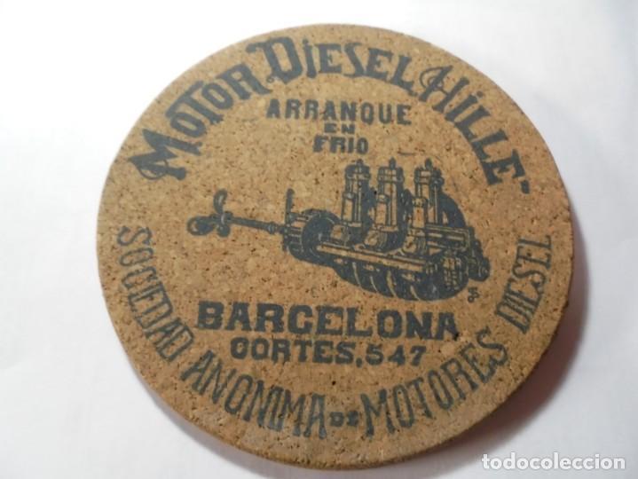 MAGNIFICA ANTIGUA PUBLIDIDA MOTOR DIESEL HILLE,SOCIEDAD ANONIMA BARCELONA DE LOS AÑOS 20 (Coleccionismo - Carteles Pequeño Formato)