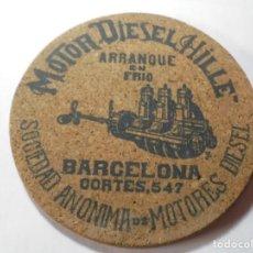 Coleccionismo de carteles: MAGNIFICA ANTIGUA PUBLIDIDA MOTOR DIESEL HILLE,SOCIEDAD ANONIMA BARCELONA DE LOS AÑOS 20. Lote 247171815