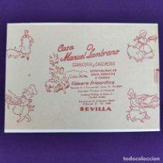 Coleccionismo de carteles: PUBLICIDAD CARTEL DE SEVILLA. CASA MANUEL ZAMBRANO ALIMENTACION. 1940-50. ORIGINAL.. Lote 247721220