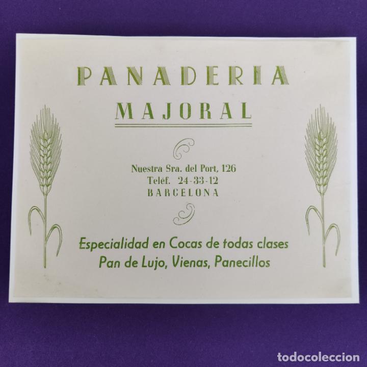PUBLICIDAD CARTEL DE BARCELONA. PANADERIA MAJORAL. 1940-50. ORIGINAL. (Coleccionismo - Carteles Pequeño Formato)