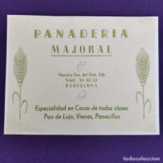 Coleccionismo de carteles: PUBLICIDAD CARTEL DE BARCELONA. PANADERIA MAJORAL. 1940-50. ORIGINAL.. Lote 247721320