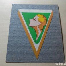 Coleccionismo de carteles: MAGNIFICO ANTIGUO DIBUJO ART DECO,MAQUETA PARA ETIQUETA DE PERFUME. Lote 248104210