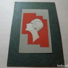 Coleccionismo de carteles: MAGNIFICO ANTIGUO DIBUJO ART DECO,MAQUETA PARA ETIQUETA DE PERFUME. Lote 248104295