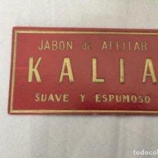 Coleccionismo de carteles: CARTEL JABONES KALIA , AÑOS 40-50 , CARTON. Lote 248210540
