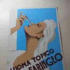Coleccionismo de carteles: MAGNIFICO ANTIGUO CARTEL MAQUETA DIBUJO ORIGINAL,LISOMA TOPICO RINO-FARINGEO. Lote 248280245