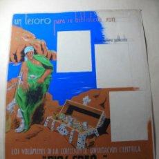 Coleccionismo de carteles: ANTIGUO CARTEL MAQUETA DIBUJO ORIGINAL UN TESORO PARA SU BIBLIOTECA,COLECCION DIVULGACION CIENTIFIVA. Lote 248601690