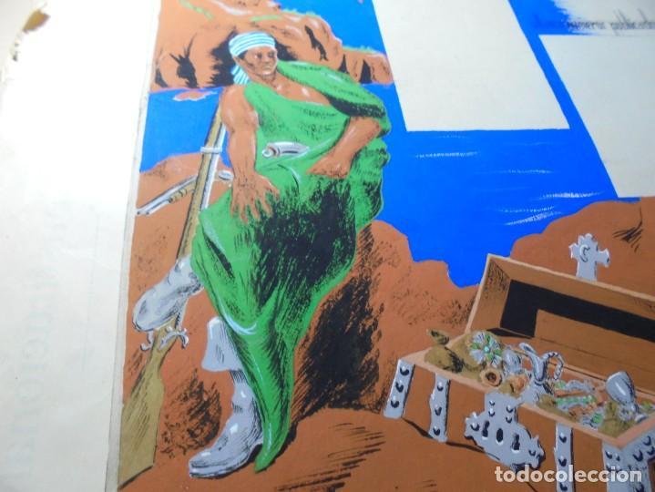 Coleccionismo de carteles: antiguo cartel maqueta dibujo original un tesoro para su biblioteca,coleccion divulgacion cientifiva - Foto 5 - 248601690