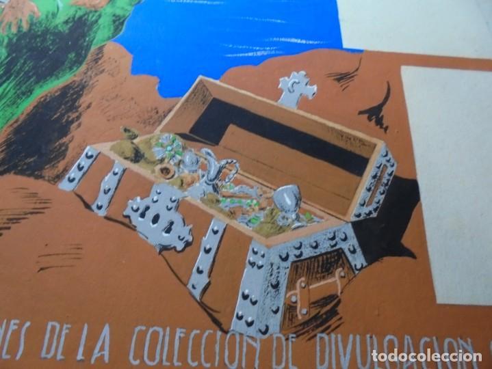 Coleccionismo de carteles: antiguo cartel maqueta dibujo original un tesoro para su biblioteca,coleccion divulgacion cientifiva - Foto 6 - 248601690
