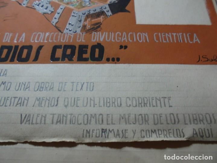 Coleccionismo de carteles: antiguo cartel maqueta dibujo original un tesoro para su biblioteca,coleccion divulgacion cientifiva - Foto 8 - 248601690