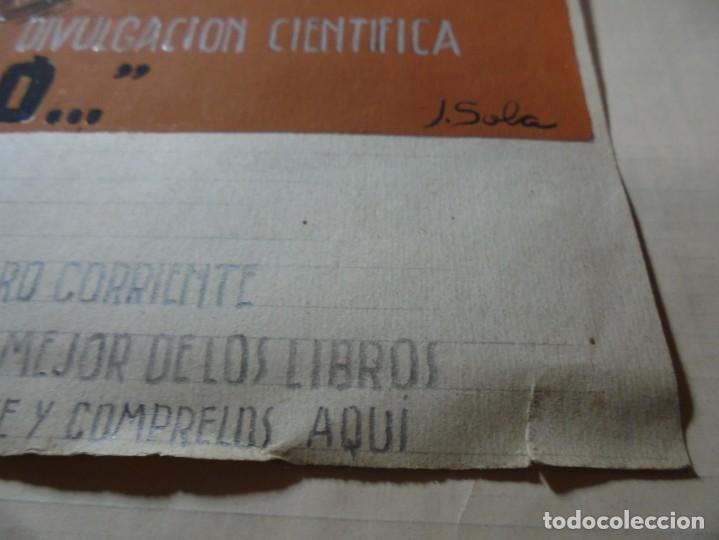 Coleccionismo de carteles: antiguo cartel maqueta dibujo original un tesoro para su biblioteca,coleccion divulgacion cientifiva - Foto 9 - 248601690