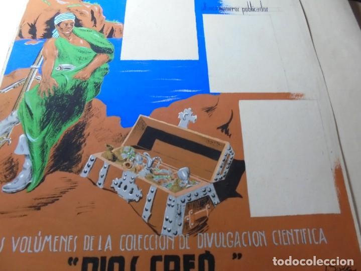Coleccionismo de carteles: antiguo cartel maqueta dibujo original un tesoro para su biblioteca,coleccion divulgacion cientifiva - Foto 12 - 248601690