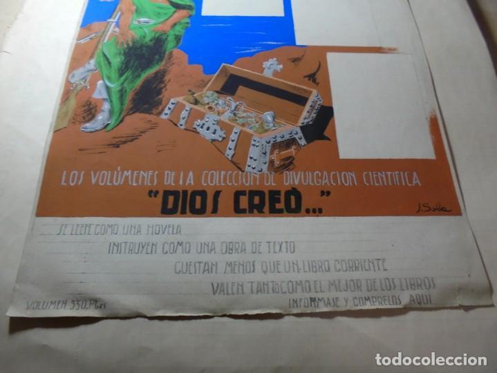 Coleccionismo de carteles: antiguo cartel maqueta dibujo original un tesoro para su biblioteca,coleccion divulgacion cientifiva - Foto 13 - 248601690