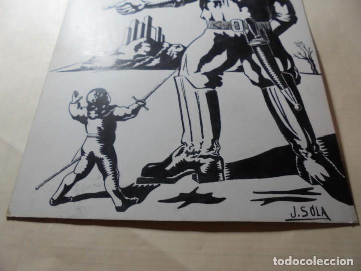 Coleccionismo de carteles: antiguo antiguo cartel maqueta dibujo original,cuentos infantiles - Foto 3 - 248602165