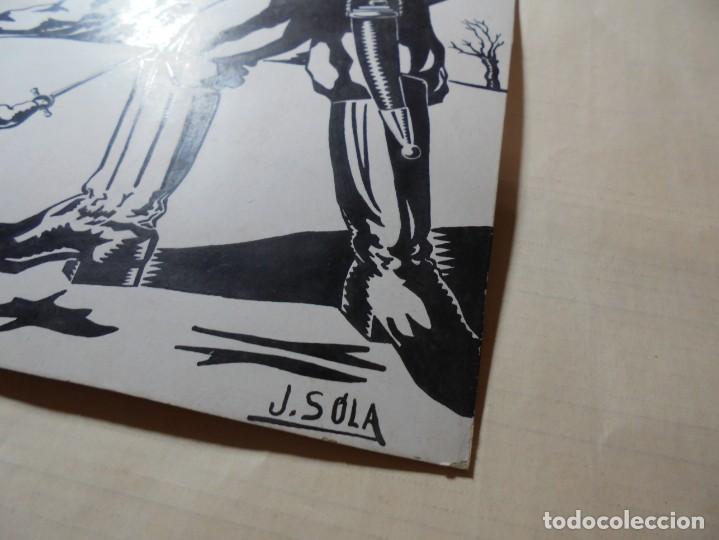 Coleccionismo de carteles: antiguo antiguo cartel maqueta dibujo original,cuentos infantiles - Foto 5 - 248602165