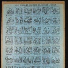 Coleccionismo de carteles: VIDA Y HECHOS DE DON PEDRO CALDERÓN DE LA BARCA, AUCA SIGLO XIX, 32X43 CM. MADRID.. Lote 249408525
