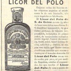 Colecionismo de cartazes: 1913 HOJA REVISTA PUBLICIDAD ANUNCIO DE PRENSA ELIXIR DENTAL LICOR DEL POLO DE S. DE ORIVE. Lote 253412525