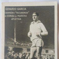 Coleccionismo de carteles: ATLETISMO GERARDO GARCIA RECORDMAN ESPAÑA DE MARCHA. Lote 253995550