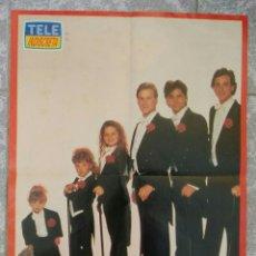Coleccionismo de carteles: POSTER TELEINDISCRETA DRAGONBALL Z Y PADRES FORZOSOS. Lote 254357490