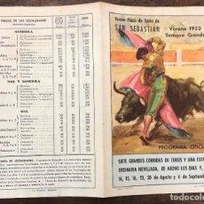 Coleccionismo de carteles: DIPTICO NUEVA PLAZA TOROS SAN SEBASTIAN. VERANO 1953. Lote 254359645