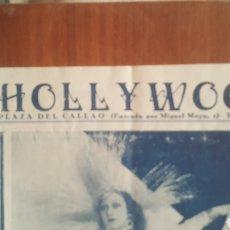 """Coleccionismo de carteles: CARTEL DE VARIEDADES """"HOLLYWOOD"""" PLAZA DEL CALLAO MADRID 1930 APROX.. Lote 254398345"""