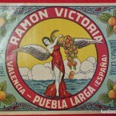 Coleccionismo de carteles: CARTEL ITO ETIQUETA NARANJAS RAMON VICTORIA PUEBLA LARGA VALENCIA ANTIGUA ORIGINAL K2. Lote 255506660
