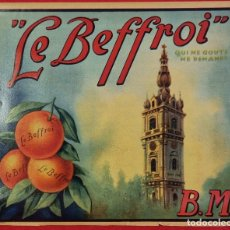 Coleccionismo de carteles: CARTEL ITO ETIQUETA NARANJAS LE BEFFROI BM TORRE VALENCIA ORIGINAL K2. Lote 255513280
