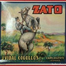 Coleccionismo de carteles: CARTEL ITO ETIQUETA NARANJAS ZATO CABALLO VIDAL COGOLLOS CARCAGENTE VALENCIA ORIGINAL K2. Lote 255513590